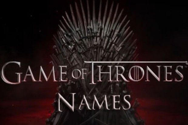 Game of Thrones Names