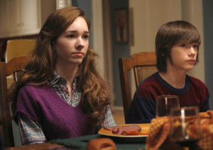Holly Taylor (Paige) and Keidrich Sellati (Henry) in The Americans